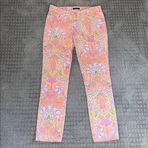 Bright Paisley Print Chaps Jeans